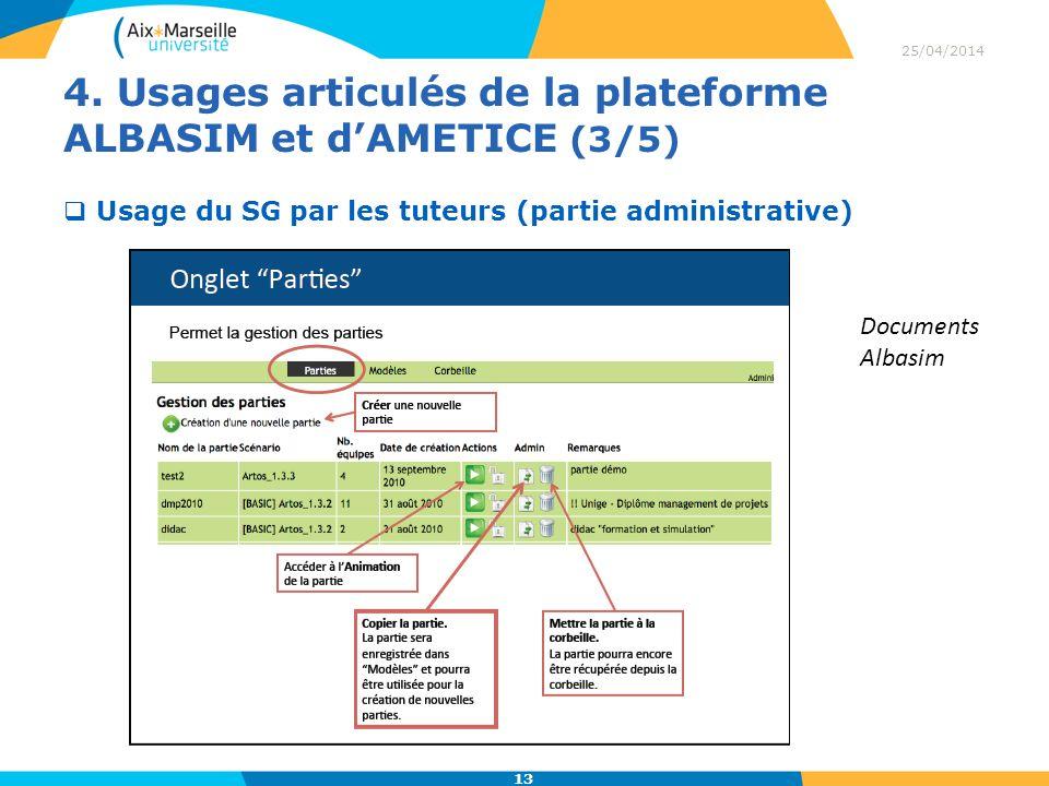 4. Usages articulés de la plateforme ALBASIM et d'AMETICE (3/5)