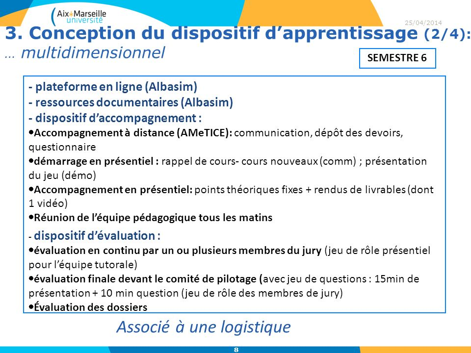 3. Conception du dispositif d'apprentissage (2/4): … multidimensionnel