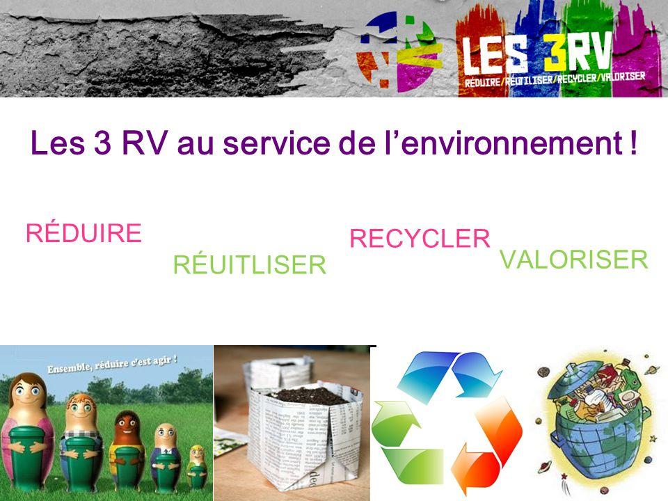 Les 3 RV au service de l'environnement !