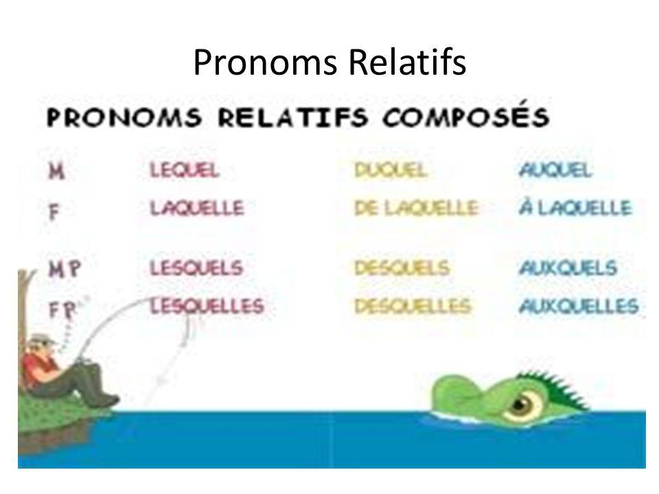 les pronoms relatifs ou et dont pdf