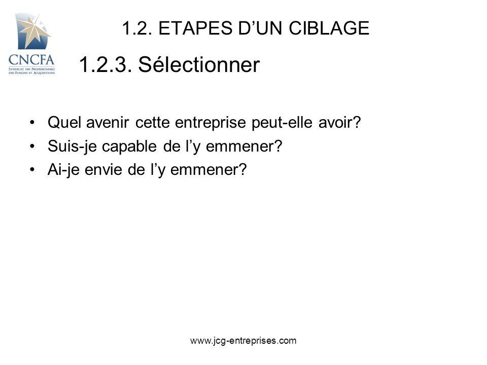 1.2.3. Sélectionner 1.2. ETAPES D'UN CIBLAGE