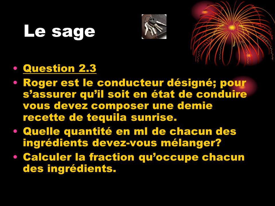 Le sage Question 2.3.