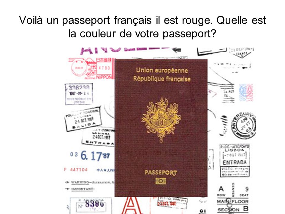 Voilà un passeport français il est rouge