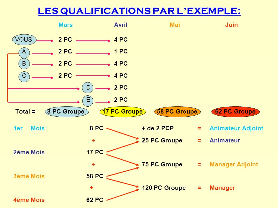 LES QUALIFICATIONS PAR L'EXEMPLE: