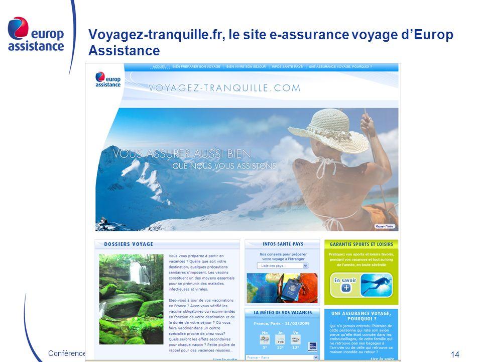 Voyagez-tranquille.fr, le site e-assurance voyage d'Europ Assistance
