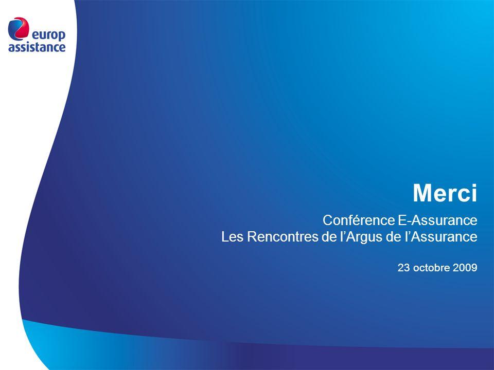 Merci Conférence E-Assurance Les Rencontres de l'Argus de l'Assurance