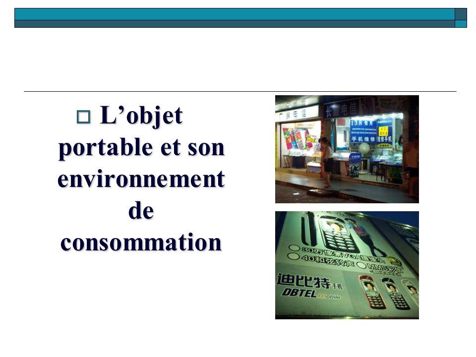 L'objet portable et son environnement de consommation
