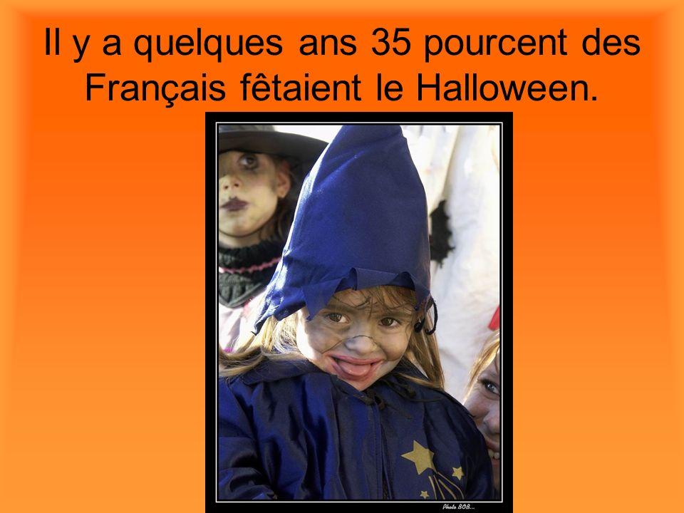Il y a quelques ans 35 pourcent des Français fêtaient le Halloween.