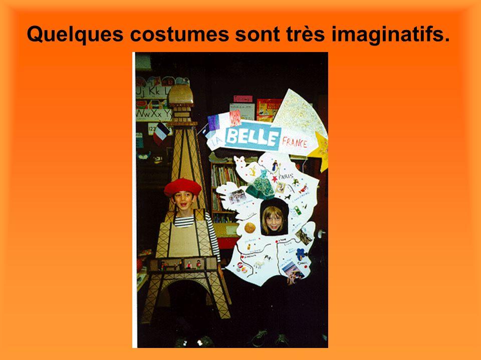 Quelques costumes sont très imaginatifs.