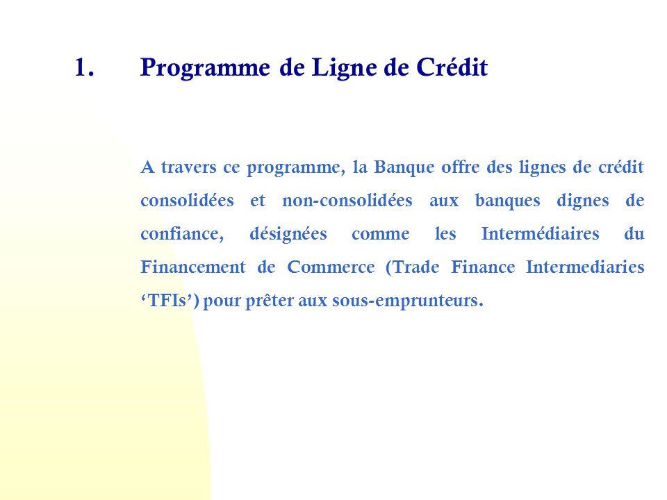 1. Programme de Ligne de Crédit