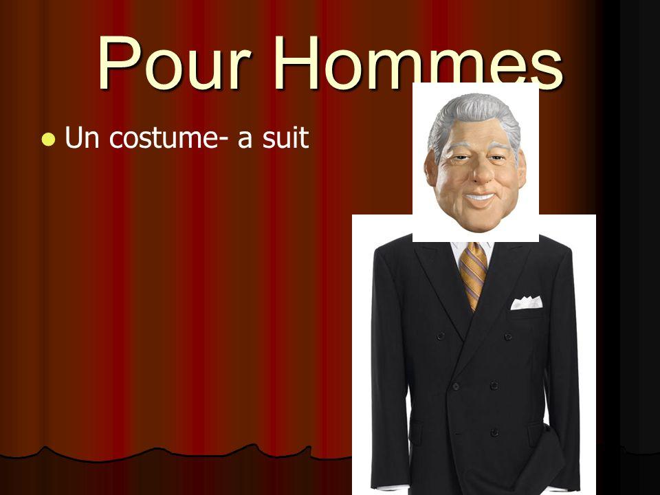 Pour Hommes Un costume- a suit