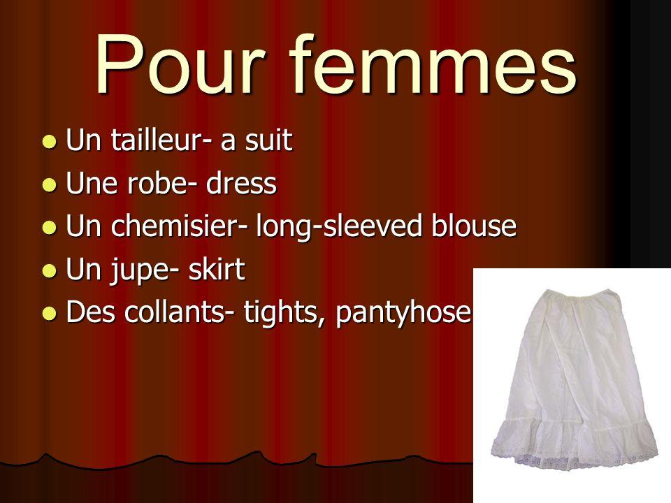 Pour femmes Un tailleur- a suit Une robe- dress