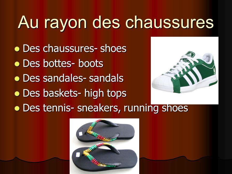 Au rayon des chaussures