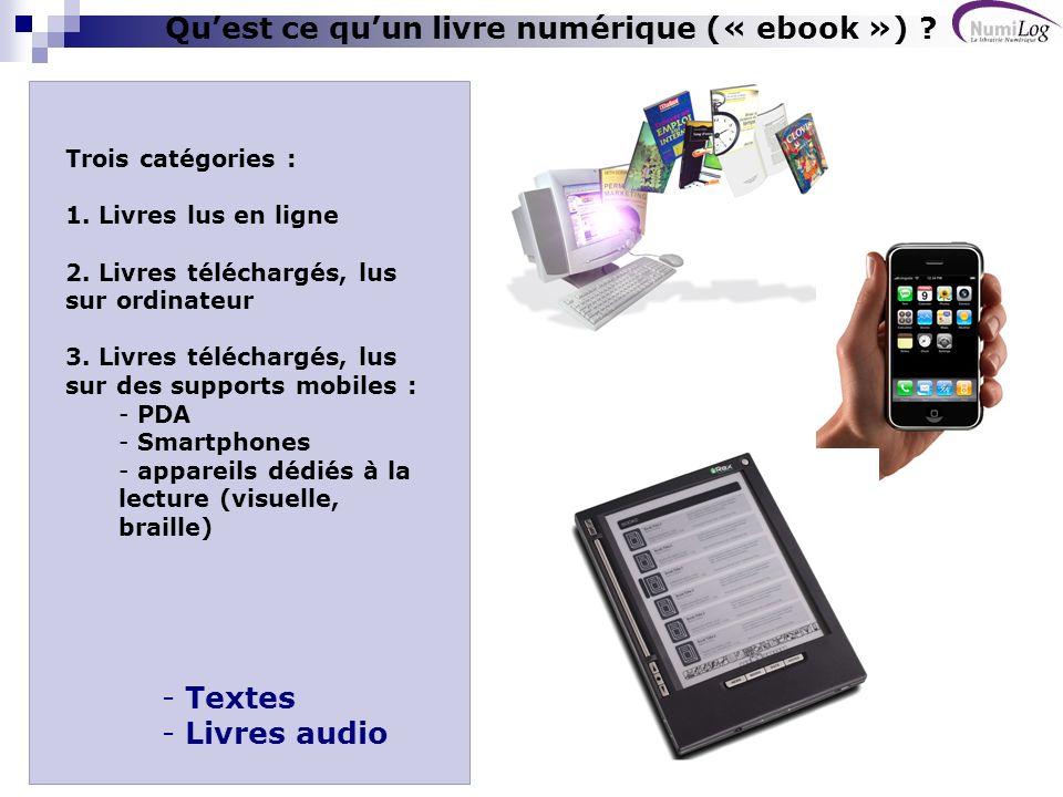 Qu'est ce qu'un livre numérique (« ebook »)