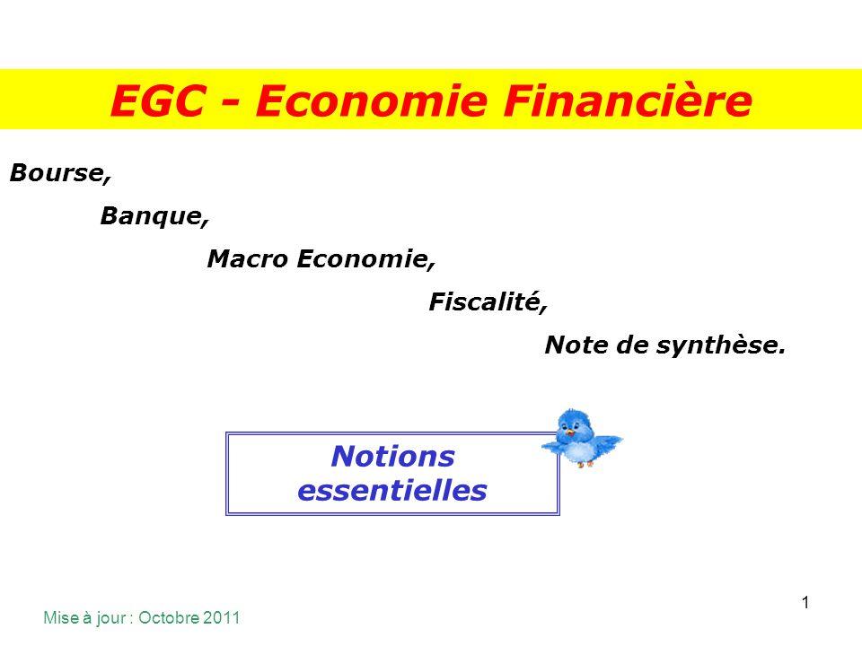 EGC - Economie Financière