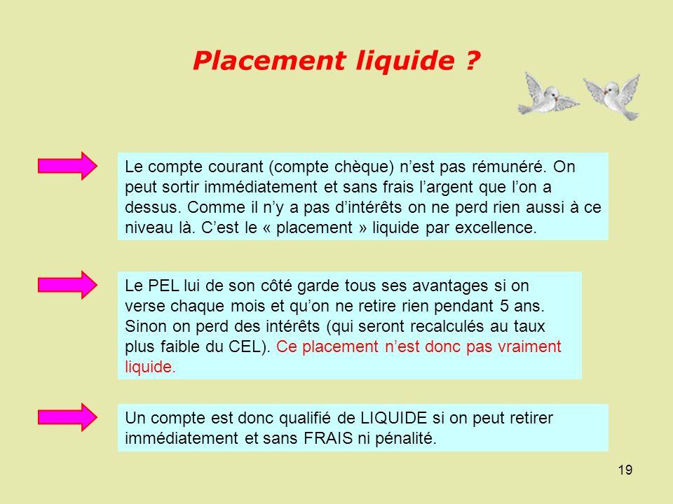 Placement liquide