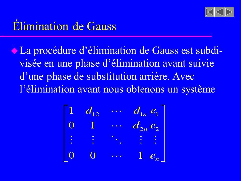 Élimination de Gauss