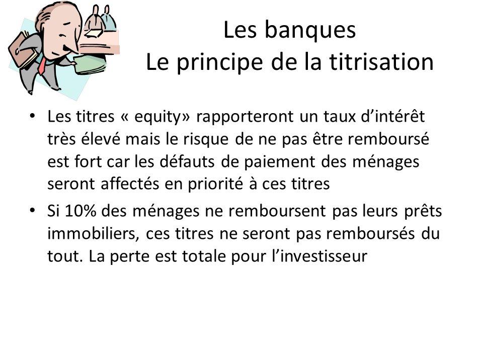 Les banques Le principe de la titrisation