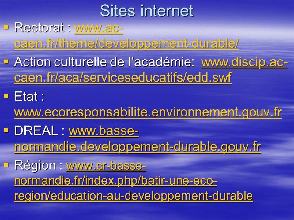Sites internet Rectorat : www.ac-caen.fr/theme/developpement-durable/