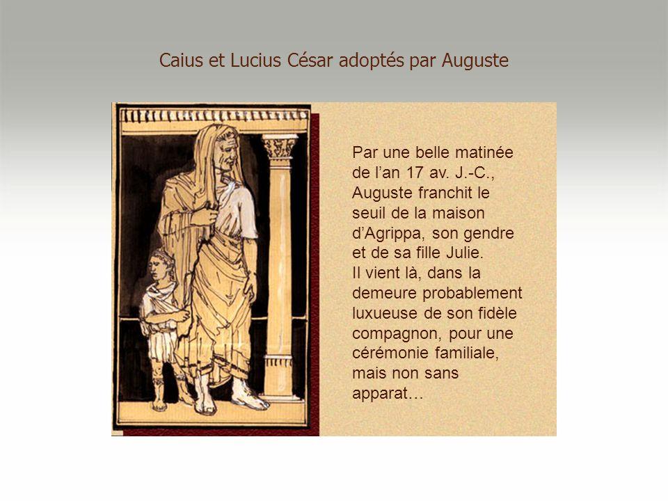 Caius et Lucius César adoptés par Auguste