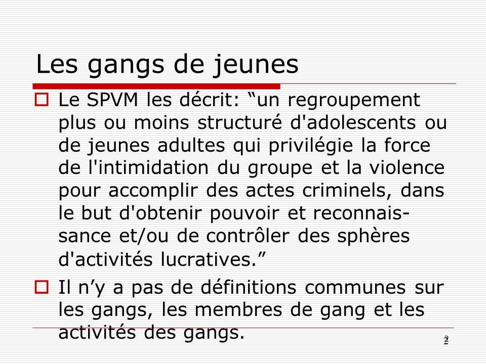 Les gangs de jeunes