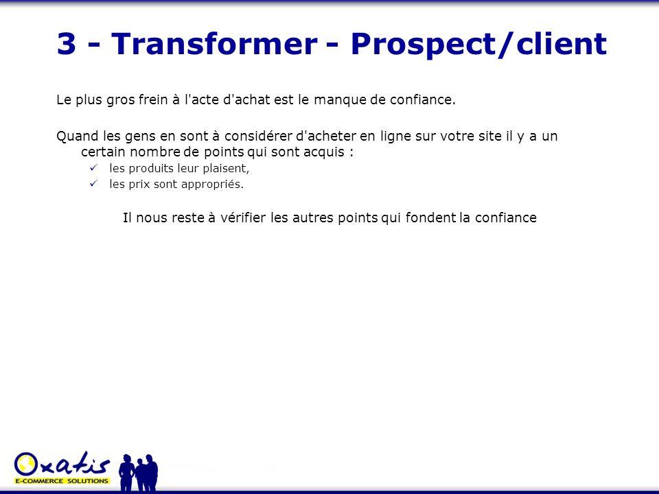3 - Transformer - Prospect/client