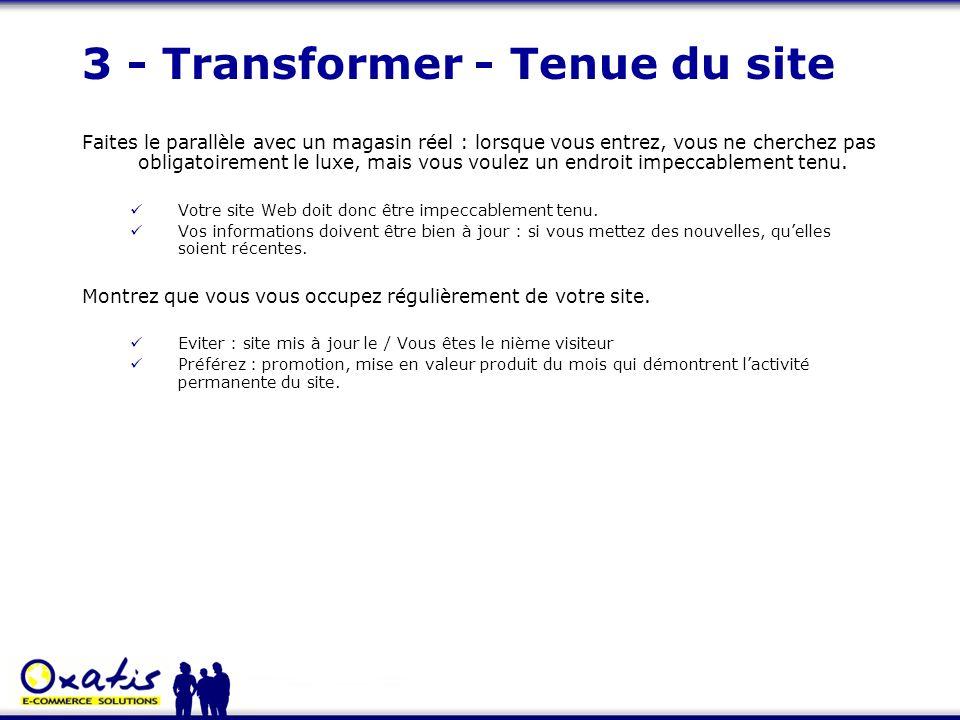 3 - Transformer - Tenue du site