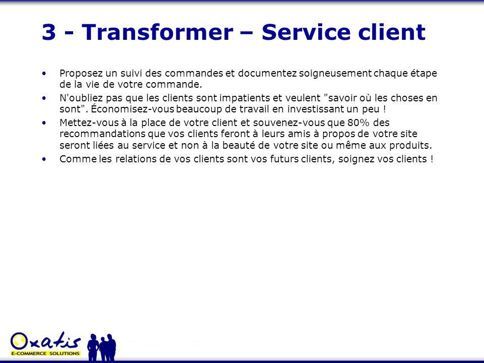 3 - Transformer – Service client