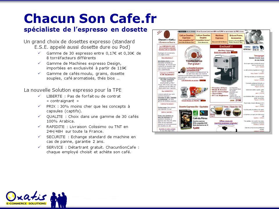 Chacun Son Cafe.fr spécialiste de l'espresso en dosette