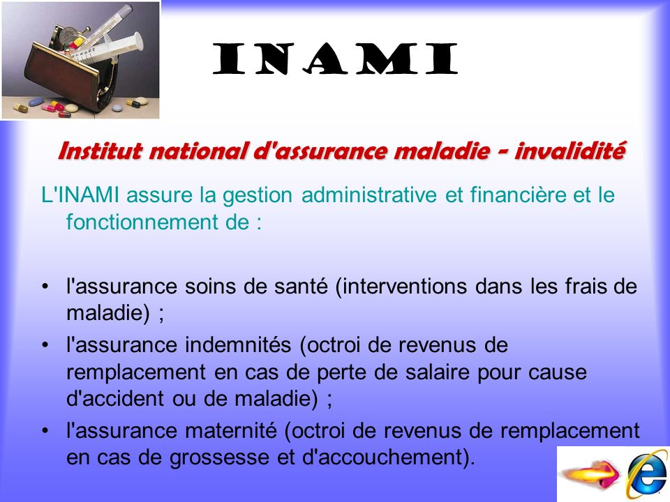 INAMI Institut national d assurance maladie - invalidité