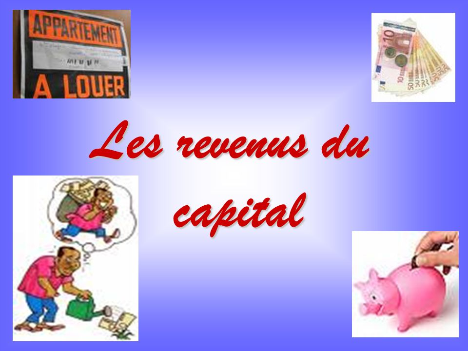 Les revenus du capital