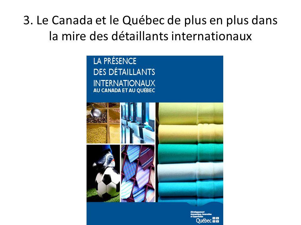3. Le Canada et le Québec de plus en plus dans la mire des détaillants internationaux
