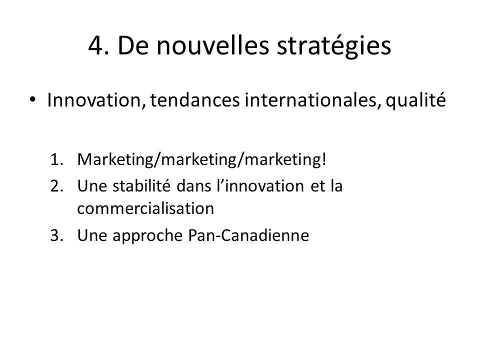 4. De nouvelles stratégies