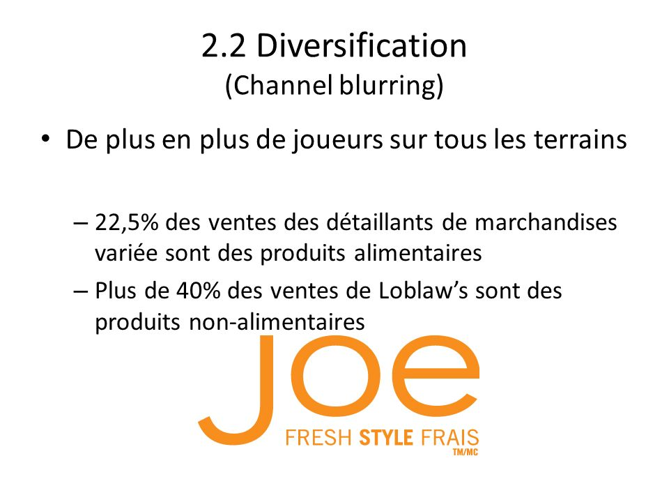 2.2 Diversification (Channel blurring)