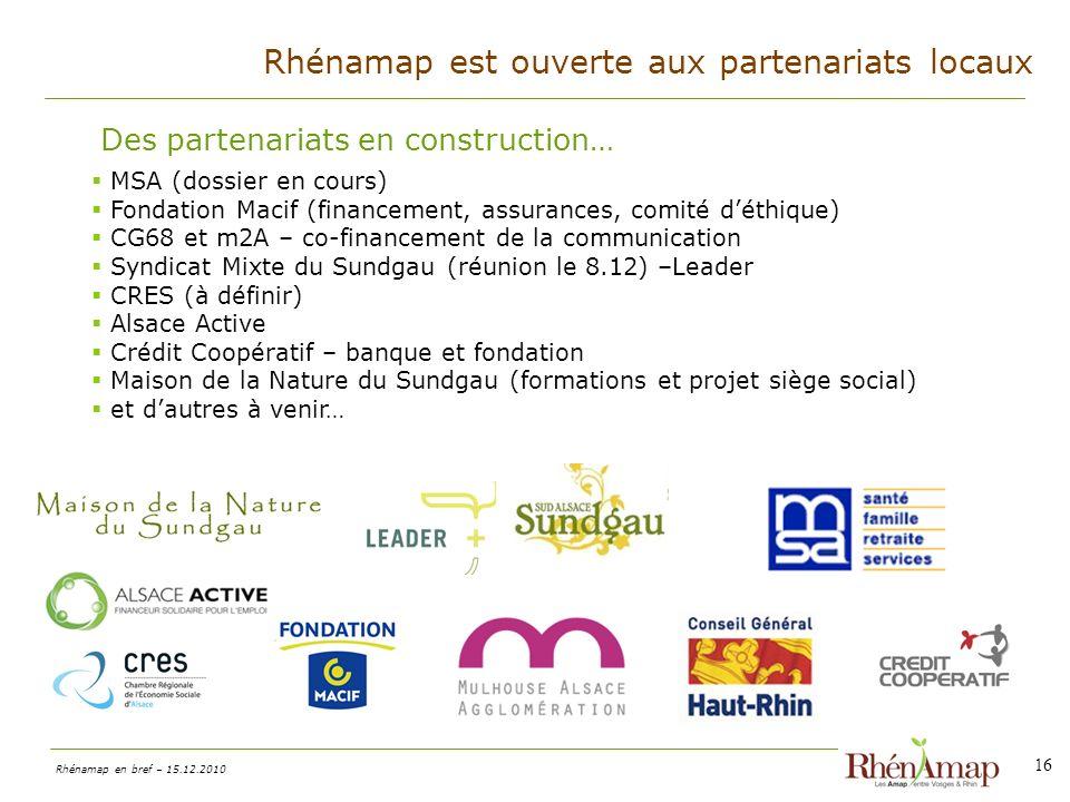 Rhénamap est ouverte aux partenariats locaux