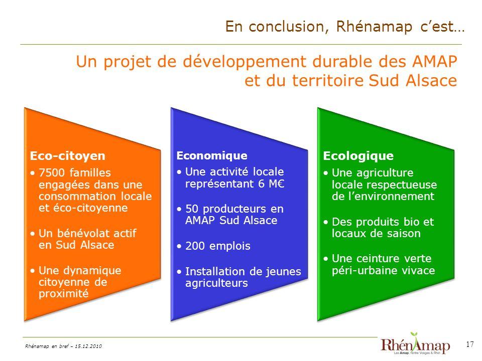 Un projet de développement durable des AMAP