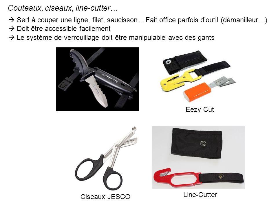 Couteaux, ciseaux, line-cutter…