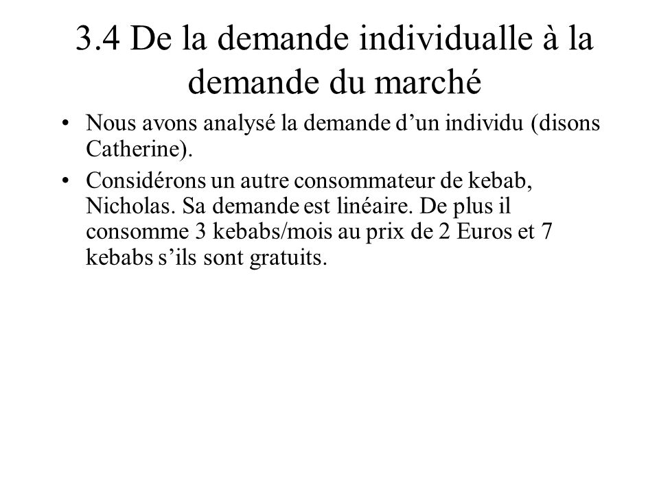 3.4 De la demande individualle à la demande du marché