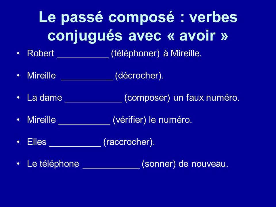 Le passé composé : verbes conjugués avec « avoir »