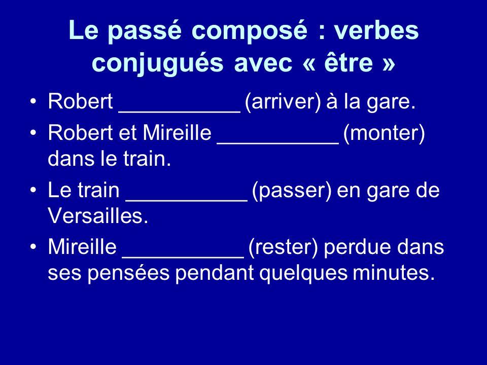 Le passé composé : verbes conjugués avec « être »