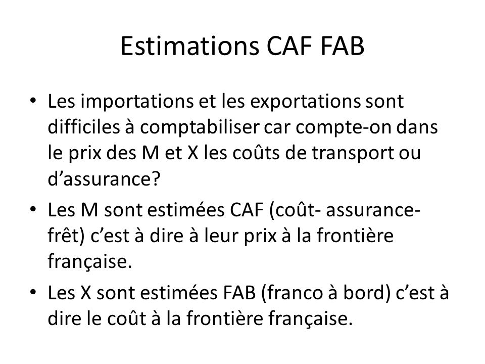 Estimations CAF FAB