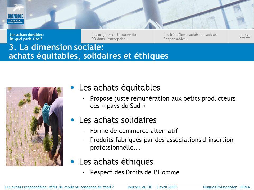 3. La dimension sociale: achats équitables, solidaires et éthiques