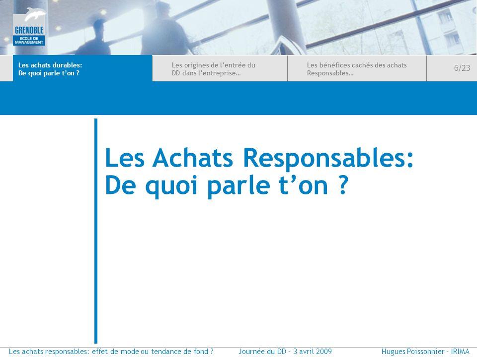 Les Achats Responsables: De quoi parle t'on