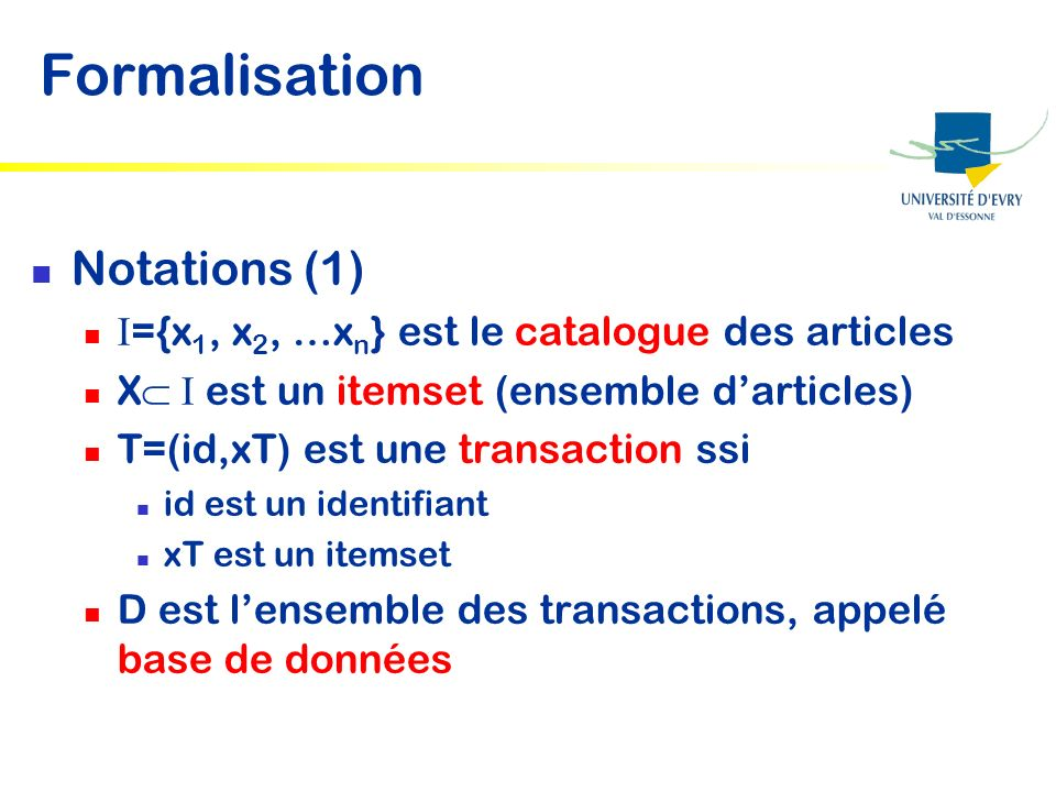 Formalisation Notations (1)