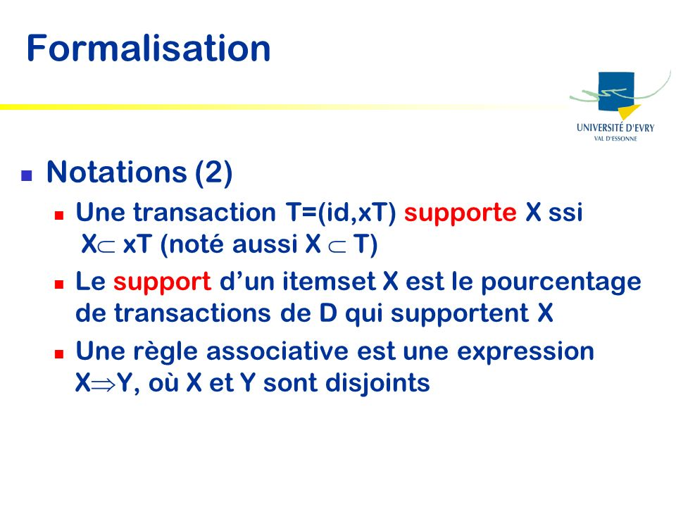 Formalisation Notations (2)