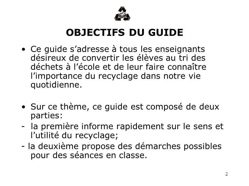 OBJECTIFS DU GUIDE