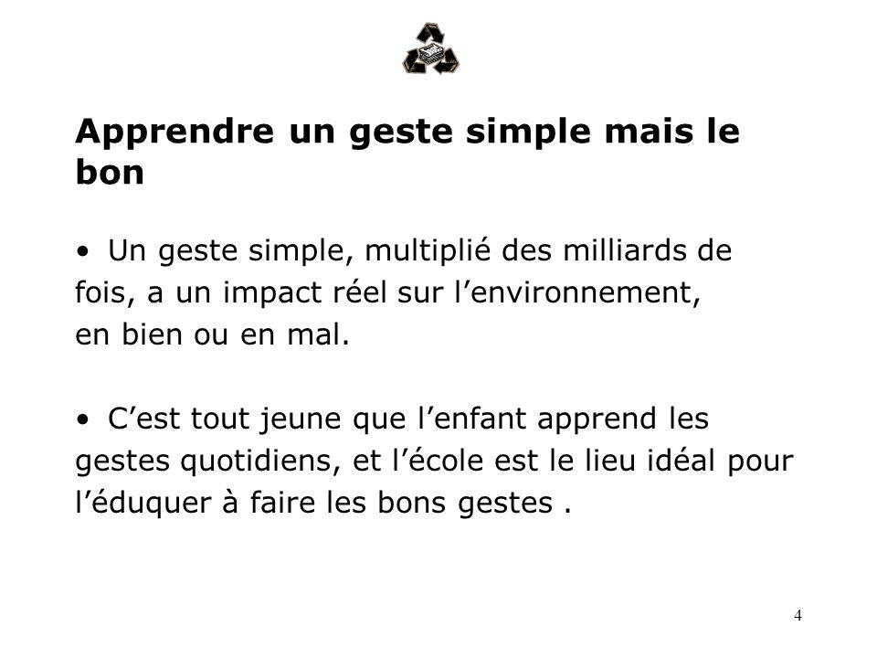 Apprendre un geste simple mais le bon