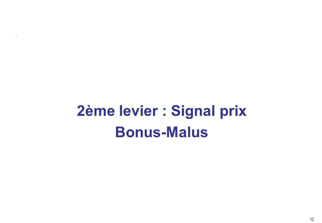2ème levier : Signal prix
