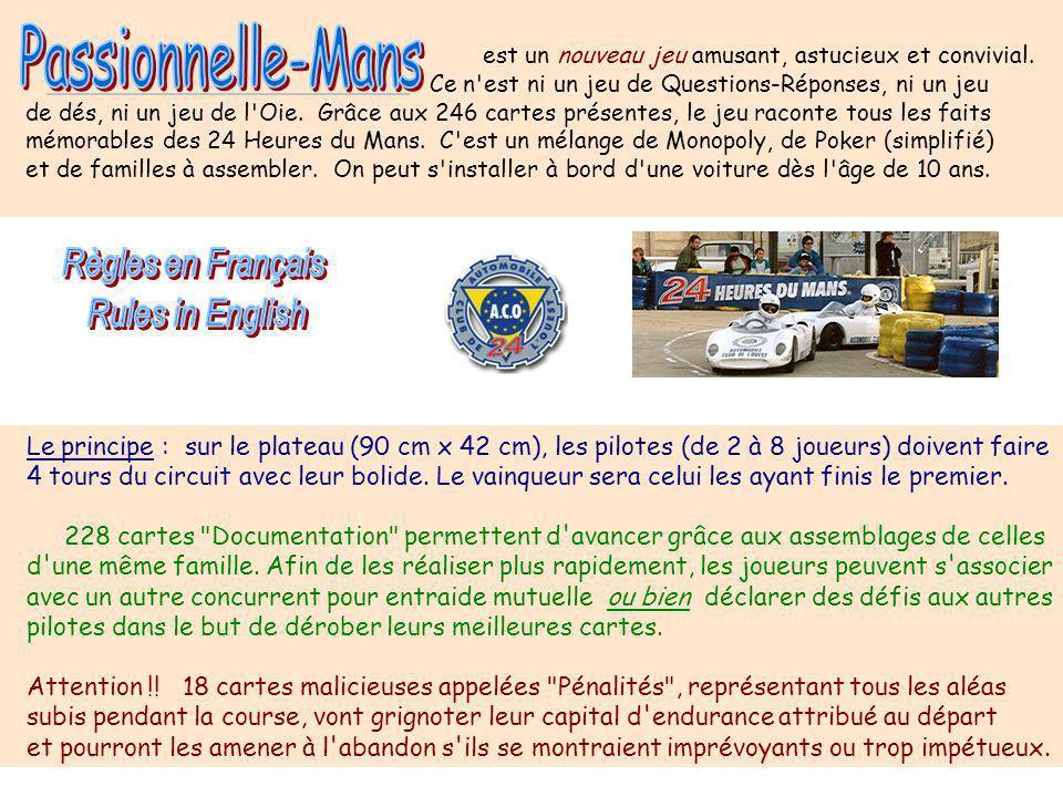 Passionnelle-Mans 3 Règles en Français Rules in English