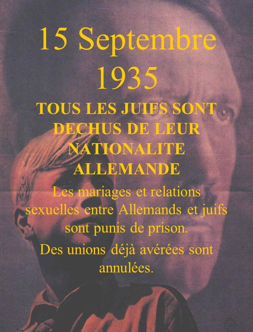 TOUS LES JUIFS SONT DECHUS DE LEUR NATIONALITE ALLEMANDE